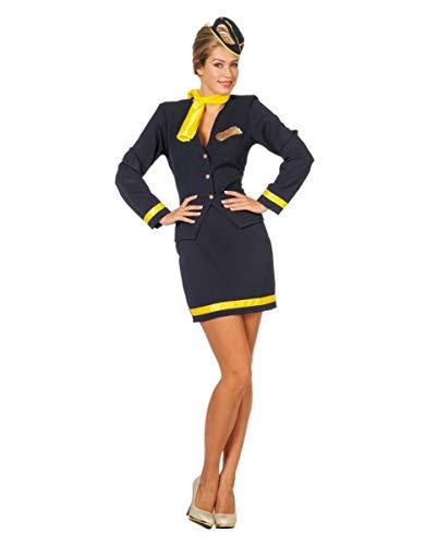 Horror-Shop 4-TLG. Stewardess Kostüm für Damen an Fasching 36