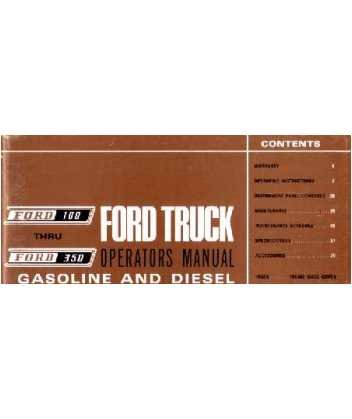 1967 Ford F-100 To F-350 Truck Owners Manual User Guide Reference Operator Book Fuses Fluids User Guide