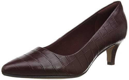 Clarks Damen Linvale Jerica Uniform-Schuh Pumps, Burgundy, 39.5 EU
