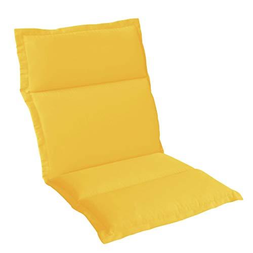 OUTLIV. Polsterauflage Stapelsessel-Auflage Sitz- Rückenkissen 98x50x5 cm Gelb Sitzauflage für Gartensessel und Gartenstuhl