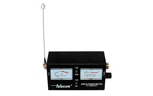 DF2461 Medidor Roe y watímetro para CB 27 MHz Y 2 Metros VHF, con 2 Instrumentos y Escala de Potencia 10/100 Watios