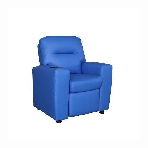 Cribel Poltrona Relax per Bambini Ecopelle Blu per Camera Bambini o Salotto