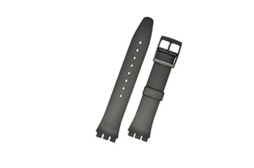 "Swatch - Armband 17mm ""ONCE AGAIN schwarz matt"""