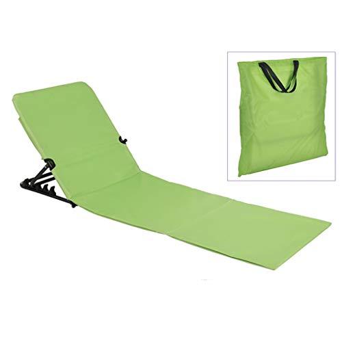 HI Strandliege 145x47x52 cm klappbar grün Strandmatte Sonnenliege tragbar zusammenklappbar Outdoorliege