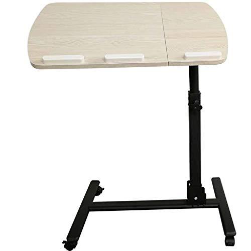 ZXCMNB Klapptisch, Tragbarer Laptop-Ständer Schreibtisch Schreibtisch Mit Mauspad, Höhenverstellbar, 360 ° Drehbare Feststellrollen (Color : White)