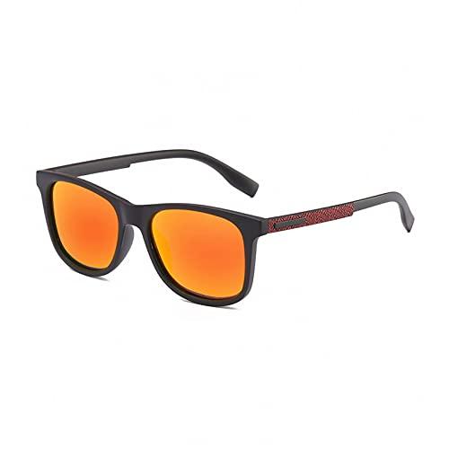 KUNIUO Gafas De Sol Unisex con Revestimiento Polarizado, Gafas De Sol para Conducir, Gafas Redondas para Hombre para Hombres/Mujeres-C6
