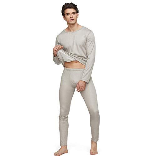 MOZHANG 放射線防護メンズ家庭用カジュアルウェア電磁放射線保護100%銀繊維長い下着EMFシールド、パンティー、XL (Color : Underwear Set, Size : Large)