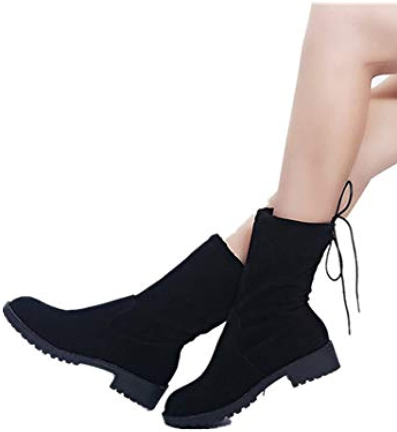 Smart.A Women's Low Heel Ankle Boots