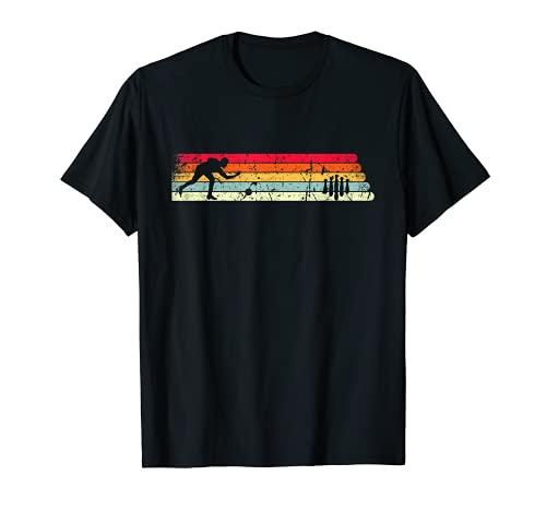 Kegeln Silhouette Retro Farben Design für Sportkegler T-Shirt