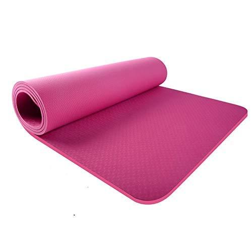 8bayfa Yoga-Matten for Männer und Frauen Verbreiterten verdickte Sport Fitness Sit-ups Ausbildung Anfänger Mats Geeignet for Zuhause oder das Fitnessstudio.1202 (Color : Rose Red, Size : 8mm)