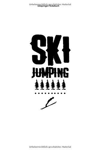 Skispringen Notizbuch: 100 Seiten | Liniert | Trainer Geschenk Team Ski Sprung Wintersport Schanze Springen Skisprungschanze Springer Skier Schanzentisch