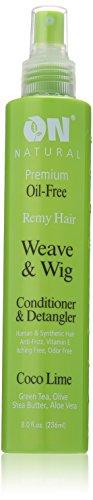 ON Organic Natural Premium Oil-Free Weave & Wig Spray Coco Lime 8 fl oz