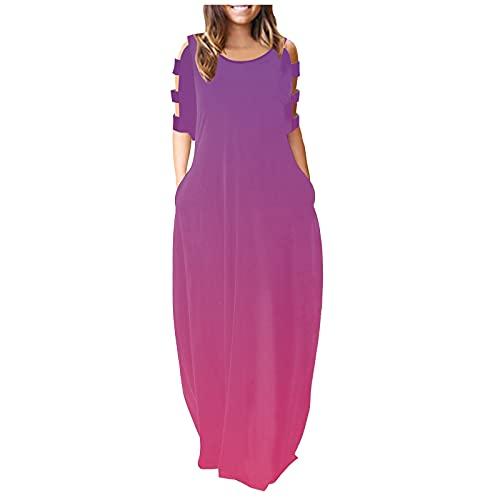 Eduavar Beach Dresses Women Summer Sexy Plus Size Women's 50s 60s Vintage Sleeveless V-Neck Cocktail Swing Dress