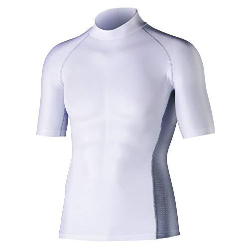 おたふく手袋 ボディータフネス 冷感 消臭 パワーストレッチ 半袖ハイネックシャツ JW-624 ホワイト M 5枚1セット [0343]