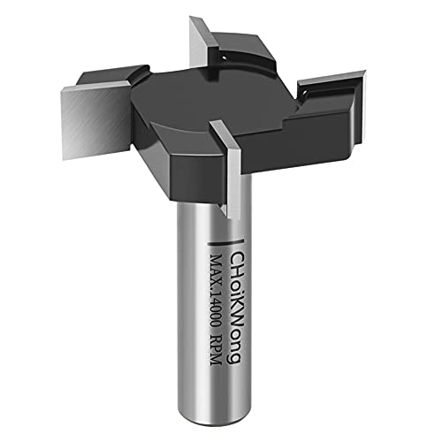 CNC Spoilboard Surfacing Router Bit, 1/2 Inch Shank Slab Flattening Router Bit Carbide Tipped Surface Planing Bottom Cleaning Cutter 1 inch Diameter Planer Bit Woodworking Router Tool by CHoiKWong