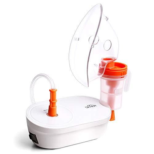 SIMBR Nebulizador Compresor, Inhalador con Boquilla y Mascarilla, Inhalador Portátil Compacto para Bebés y Adultos, Eficaz para Enfermedades Respiratorias, Reutilizable