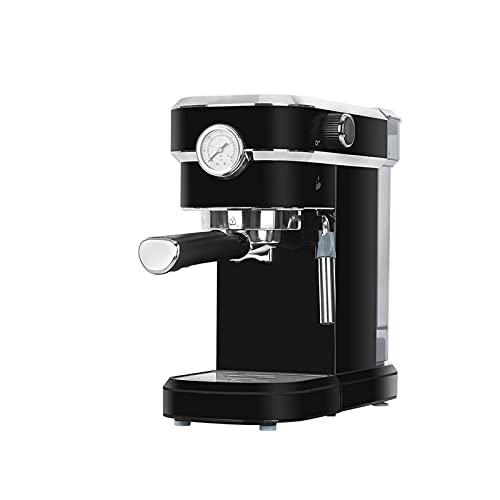 HMBB Máquinas de espresso 15 Bar Calefacción rápida Capuchero automático Cafetera for el café expreso,Latte Macchiato,1.1L Tanque de agua extraíble,850W,Negro,Rojo (Color : Black)