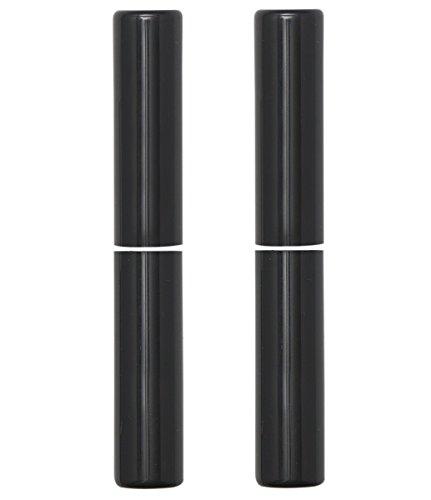 Gedotec Anuba Zierhülsen rund Aufsteckhülsen für 3- DIM Türscharnier SFS Türband ø 20 mm | Kunststoff schwarz | Scharnier-Hülsen für Bandhöhe 112 mm | 2 Paar - Abdeckkappen für Einbohrbänder Zimmertür