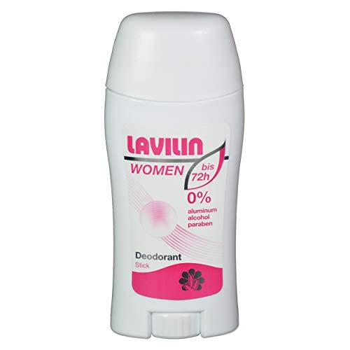 Lavilin Deo Stick für Frauen 60 ml, schützt bis 72 Sunden vor Schweissgeruch, Creme ohne Aluminium und Alkohol, mit pflanzlichen Wirkstoffen, wasserresistent und ergiebig
