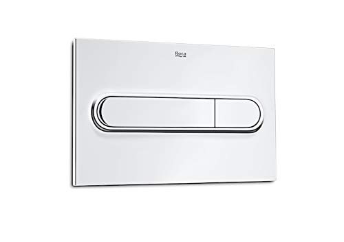 Roca In-Wall A890095001 - Placa accionamiento PL1 Dual, cromo brillo
