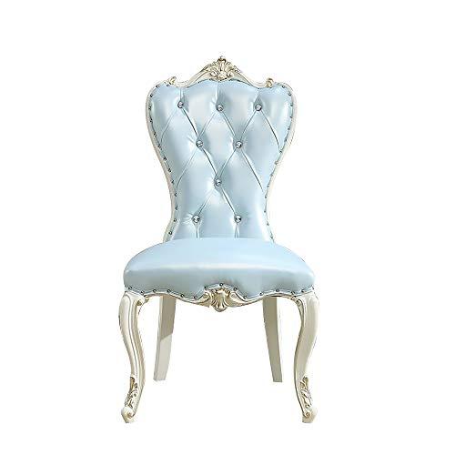 Mesa de Comedor, combinación de Mesa y Silla de Madera Maciza Mesa de Comedor Redonda con Plato Giratorio Muebles de Cocina 130cm / 150cm,A Chair