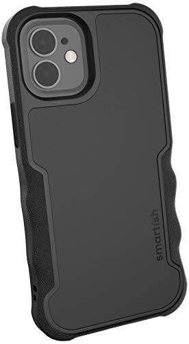 "Smartish Apple iPhone 12 Mini (5,4\"") Armor Gripzilla Case - Robust & Schützende Hülle [Grip Cover Bumper I Stabile Ecken] (Silk) Black Tie Affair schwarz"