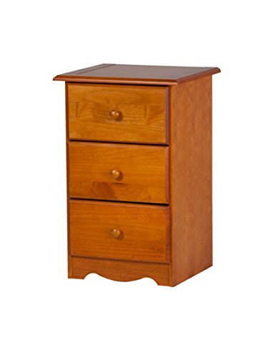 100% Solid Wood 3-Drawer Night Stand by Palace Imports, Honey Pine, 28' H x 18' W x 16' D. Requires Assembly
