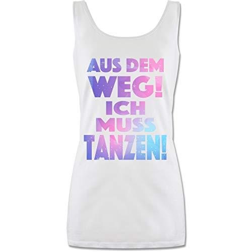 Shirtracer Festival - Aus dem Weg! Ich muss tanzen! - M - Weiß - tanzen - P72 - Tanktop für Damen und Frauen Tops