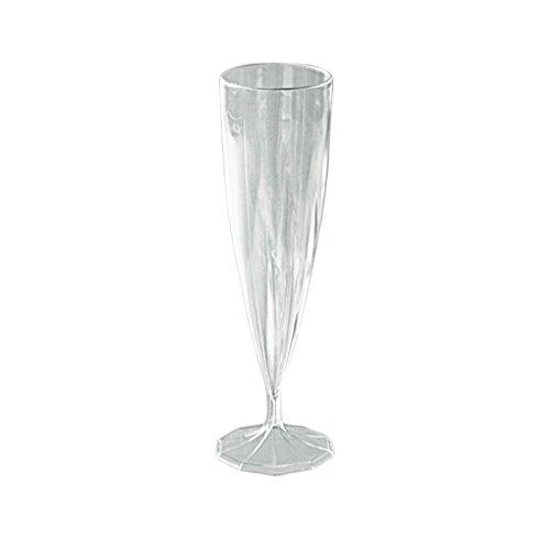 Aluplast Flûte à Champagne Plastique réutilisable de Couleur Cristal (Carton de 200 unités)