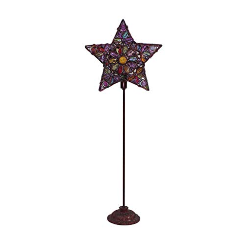 Floor Lamp LED sfeerverlichting Lamp Woonkamer Slaapkamer warme sfeer Staande Lamp Europese Retro Decoration Lamp DZE (Color : Brown, Size : 35cm*92cm)