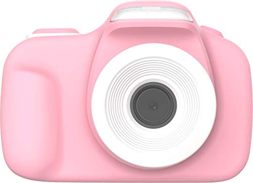 【Oaxis】【日本語】【消音設定】【超高解像度】myFirstCamera III 子供用 トイカメラ 【全二色】2インチIPS画面 オートフォーカス/顔認識/LEDフラッシュ内蔵/2つカメラ/タイムラプス/デコレーション/連続撮影/動画撮影 ミニカメラ キッズカメラ ピンク