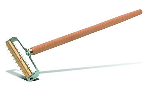 PaintMaster Stachelwalze, Messingwalze, Holzstiel (500 mm), Gehärtete Spitzen - Stachelwalze für Tapezierarbeiten