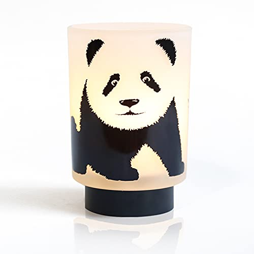 MJ PREMIER Lámpara de mesa, panda, lámpara de mesa, funciona con pilas, con función de temporizador, lámpara de noche para niños, decoración para mesa, dormitorio, salón, balcón, interior y exterior