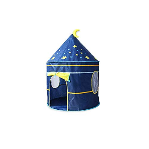 Kindergarten Play Tent, Bedroom Multifunctional Tent Yurt Tent House Infant Reading Corner/105 * 105 * 135CM/Applicable Age:2-5 Years Play Tents (Color : Blue, Size : 105 * 105 * 135CM)