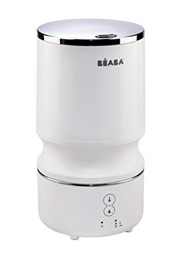 BÉABA – Luftbefeuchter Geräuscharm mit Kaltwasserdampf – Geeignet für Baby- und Kinderzimmer – Geräuscharm, lange Laufzeit, kompaktes Design – Weiß