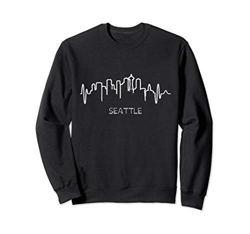 Seattle Heartbeat City Skyline Sweatshirt