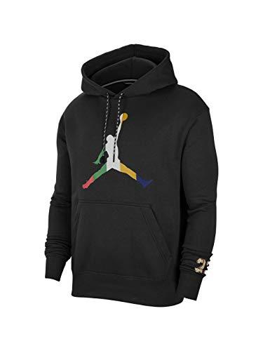 Nike M J SPRT DNA MC Hbr FLC Po Hooded Langarmshirt, Herren L Schwarz