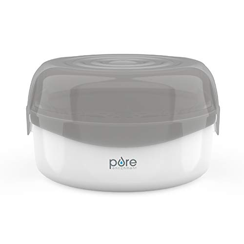 PureBaby Microwave Bottle Sterilizer - Fast and Easy Natural Steam Sterilizer, 8 Bottle Capacity, BPA Free - Ideal for Bottles, Pacifiers, Training Cups, and Breast Pump Parts
