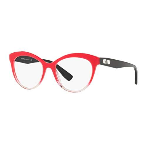 Miu Miu Damen 0MU 04RV Sonnenbrille, Raspberry Glitter Grad Transp (1161o1), 53