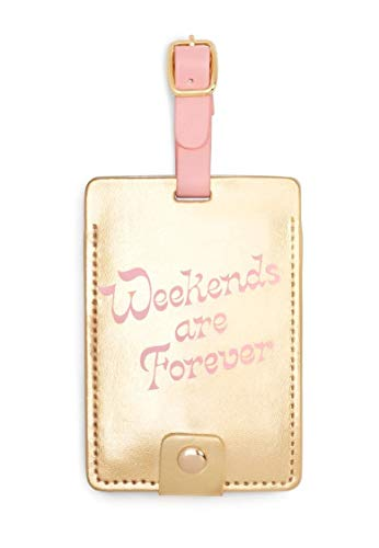 Ban.do Women's Getaway Leatherette Floral Luggage Tag with Strap, Weekends are Forever