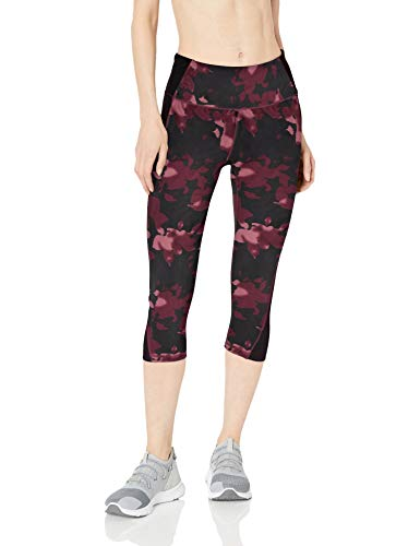 Amazon Essentials Colorblock Performance Mid-Rise Capri Legging athletic-leggings, Warm Floral, XS