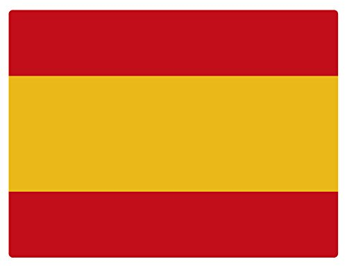 Artimagen Pegatina Bandera Rectangular España 120x80 mm.