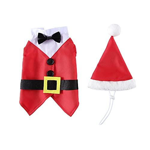 NZXVSE Conjunto de traje de Navidad para mascotas, traje de Papá Noel,...