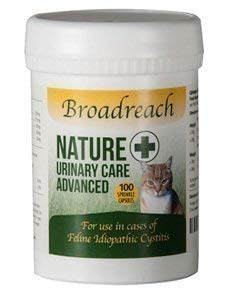 Broadreach Nature + URINARY, CYSTITIS AND CALMING Supplement for Cats - AWARD WINNING PRODUCT! - Natural Ingredients - Advanced UK Veterinary Formula - 100 caps