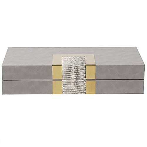 XYF Scatola di Gioielli Portagioie Multifunzionale Nero Portagioie da Viaggio Portatile con Lucchetto Regali di Nozze di Lusso E Luce di Fascia Alta (Color : Gray, Size : 36x18.5x8 cm)