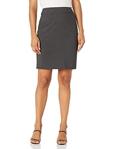 Calvin Klein Women's Skirt, Charcoal, 4 Petite