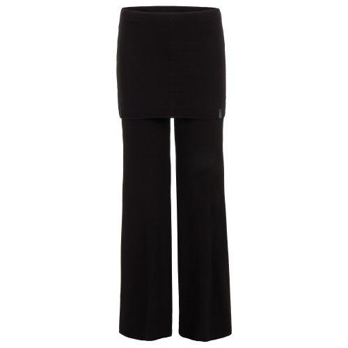 weite Yoga Damenhose mit Rock schwarz, DANCER PANT von hut und berg balance: Farbe: schwarz   Größe: L