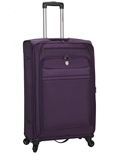 Travelers Club Business Class Expandable Spinner Luggage, Premium Purple, Checked-Large 28-Inch
