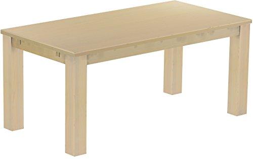Brasilmöbel Esstisch Rio Classico 180x90 cm Birke Massivholz Pinie Holz Esszimmertisch Echtholz Größe und Farbe wählbar ausziehbar vorgerichtet für Ansteckplatten