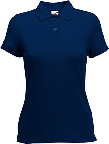 Fruit of the Loom 65/35 Polo Lady-Fit Poloshirt NEU, Farbe:Navy, Größe:XL